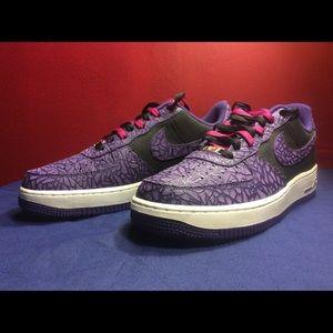 newest 28ec8 394ba Nike Shoes - Nike Air Force 1 LE Godzilla Pack BlkPurple 8.5